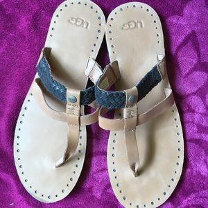 Ugg leather flip flops